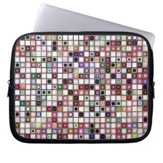 Beunruhigtes Retro Juwel tont Mosaik-Fliesen-Muste Computer Sleeve Schutzhüllen