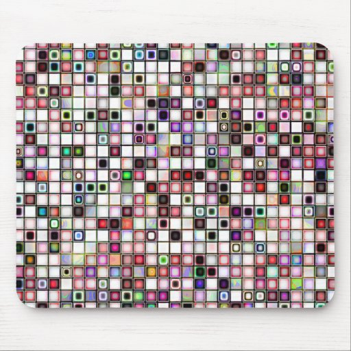 Beunruhigtes Retro Juwel tont Mosaik-Fliesen-Muste Mauspad