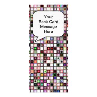 Beunruhigtes Retro Juwel tont Mosaik-Fliesen-Muste Individuelle Werbe Karte
