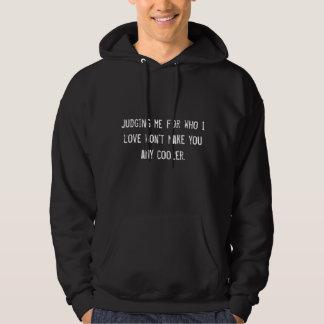 Beurteilen für Liebe-Sweatshirt (Schwarzes) Kapuzensweatshirts