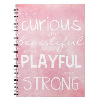 Bevollmächtigung, Notizbuch für starke Mädchen Spiral Notizblock