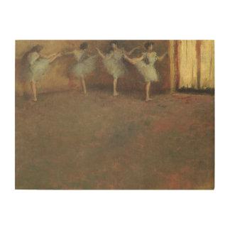 Bevor das Ballett durch Edgar entgasen, Vintage Holzwanddeko