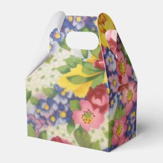 Bevorzugung/Geschenkboxen - Vintages Blumengewebe Geschenkschachtel