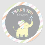 Bevorzugungs-Aufkleber des Baby-Elefant- 