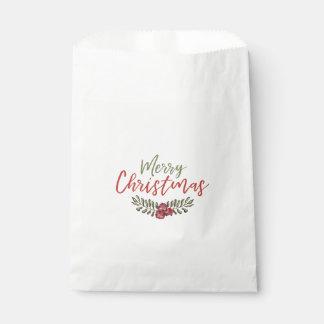 Bevorzugungs-Tasche des WeihnachtsblumenKranz-| Geschenktütchen
