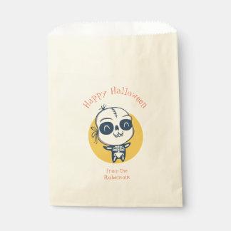 Bevorzugungstasche für Halloween mit dem Skelett Geschenktütchen