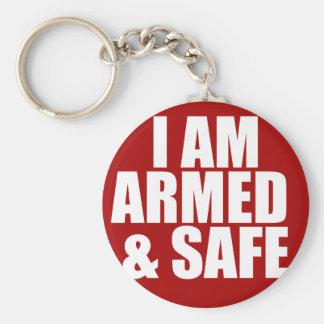 Bewaffnete u. sichere Schlüsselkette Schlüsselanhänger