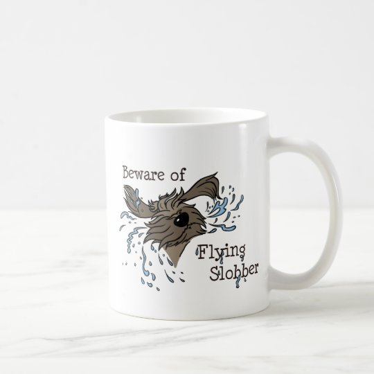 Beware of flying Slobber Kaffeetasse
