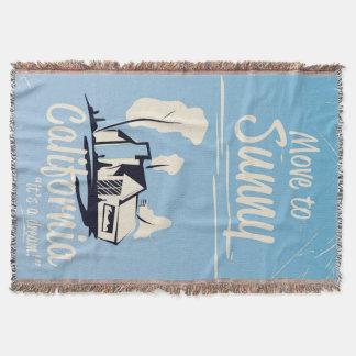 Bewegen Sie sich auf sonniges Vintages Plakat Decke