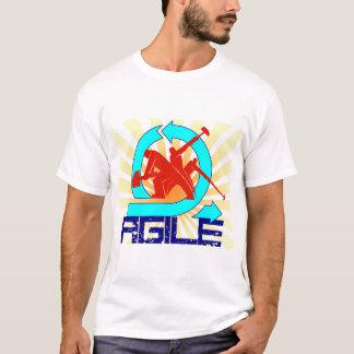 Beweglich mit Arbeitskräften und Sonnestrahlen T-Shirt