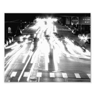Bewegliche Autos Schwarzweiss Fotos