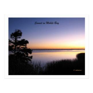 Bewegliche Bucht-Sonnenuntergang Postkarte