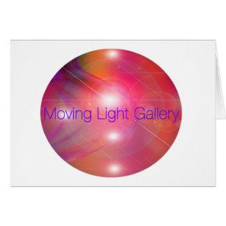 Bewegliche helle Galerie Grußkarte