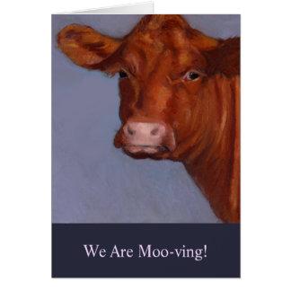 Bewegliche Mitteilung: Malerei der Kuh, MOO-ving Karte