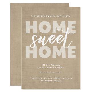 Bewegliche Mitteilung, neues Zuhause-süßes Zuhause 12,7 X 17,8 Cm Einladungskarte