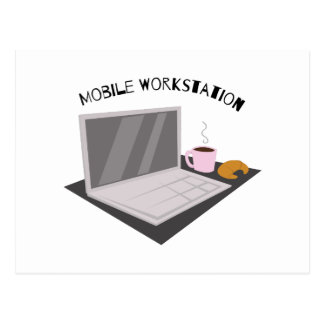 Beweglicher Arbeitsplatz Postkarten