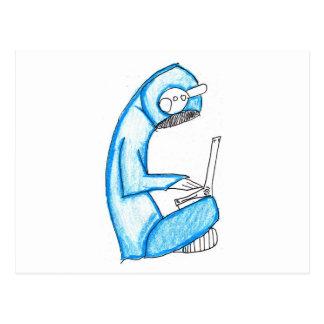 Beweglicher Musik-Produzent - Blau Postkarten