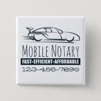 Beweglicher Notars-schnelles Auto mit Quadratischer Button 5,1 Cm