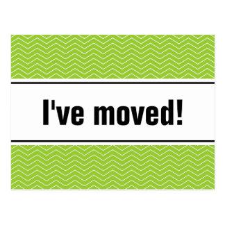 Bewegliches apfelgrünes Zickzack der Postkarten |