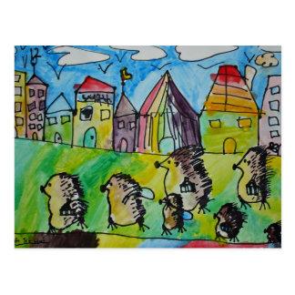 Bewegliches Haus des Stachelschweins Postkarte
