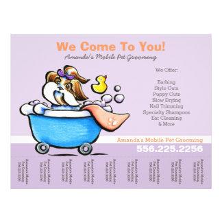 Bewegliches lila Riss-Blatt HaustierGroomerShih Flyer