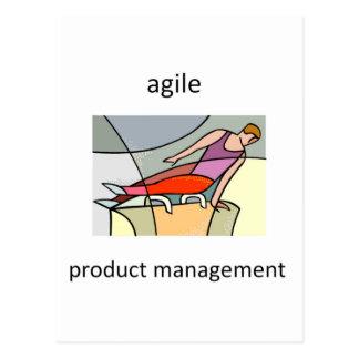 Bewegliches Produkt-Management Postkarte