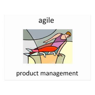 Bewegliches Produkt-Management Postkarten