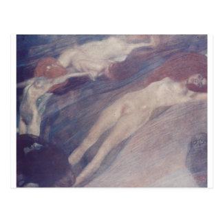 Bewegte Wasser durch Gustav Klimt Postkarte