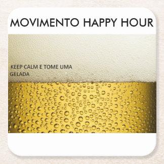 Bewegung Happy Hour Rechteckiger Pappuntersetzer