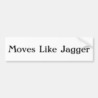 Bewegungen wie Jagger Autoaufkleber