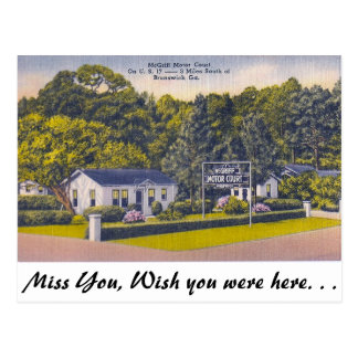 Bewegungsgericht, Brunswick, Georgia Postkarte