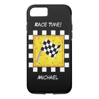 Bewegungsrennen-Zeit-Schwarz-weißer Checkered iPhone 8/7 Hülle