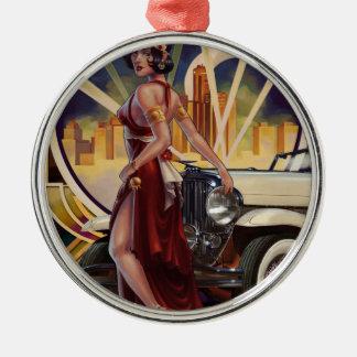 Bewegungsstadt Detroits, Michigan   Silbernes Ornament