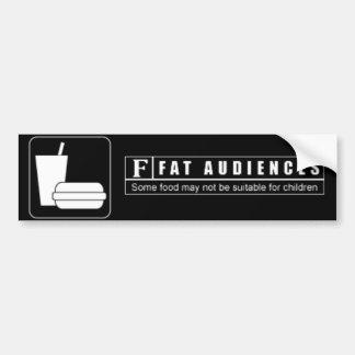 Bewertetes F für fette Publikum Autoaufkleber