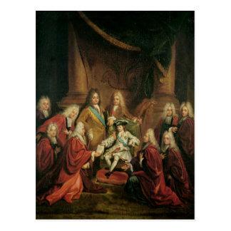 Bewilligenpatente Louis XV des Adels Postkarte