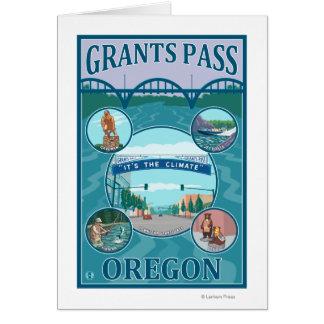Bewilligungs-Durchlauf, OregonScenic Reise-Plakat Karte