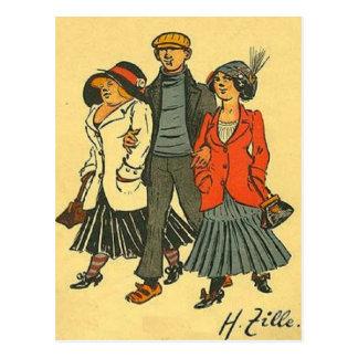 Bewohner von Berlin - Zille - Vintages Motiv Postkarte