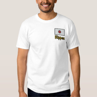 Bewohner- von Nipponjapanerflagge Besticktes T-Shirt