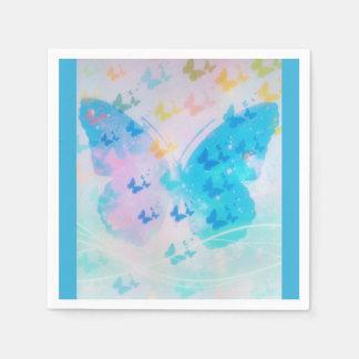 Bewölkte Schmetterlings-Servietten Papierserviette