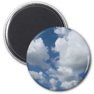 Bewölkter blauer Himmel Kühlschrankmagnet