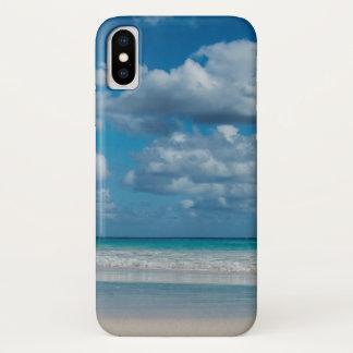 Bewölkter blauer Strand iPhone Kasten iPhone X Hülle