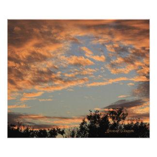 Bewölkter Himmel-Foto-Erweiterung Kansas Fotodruck