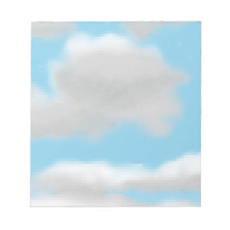 Bewölkter Himmel-Pixel-Kunst-Notizblock Notizblock