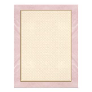 Bewölktes rosa abstraktes 21,6 x 27,9 cm flyer
