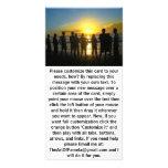 Bewundern des Sonnenuntergangs Foto Karten