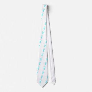 Bewusstseins-Band (hellblau) Personalisierte Krawatte