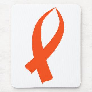Bewusstseins-Band (orange) Mousepad