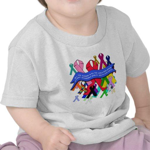 Bewusstseins-Bänder für universelles Gesundheitswe T Shirts