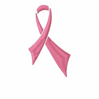 Bewusstseins-rosa Band-Fleece-Ziprüttler-Jacke
