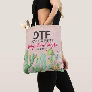 Bezaubernde Fiesta personalisierte Bachelorette Tasche